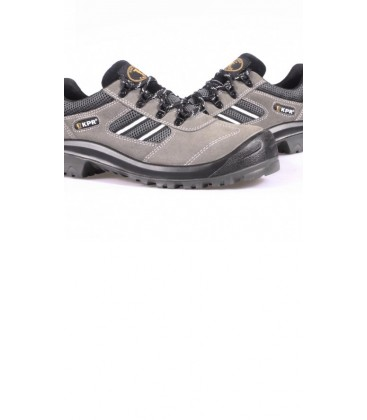 KPR Low cut Grey Suede lace up Safety Sports shoe M017G