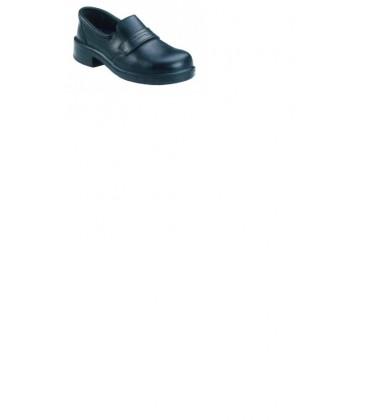 Adele black loafer style slip on shoe